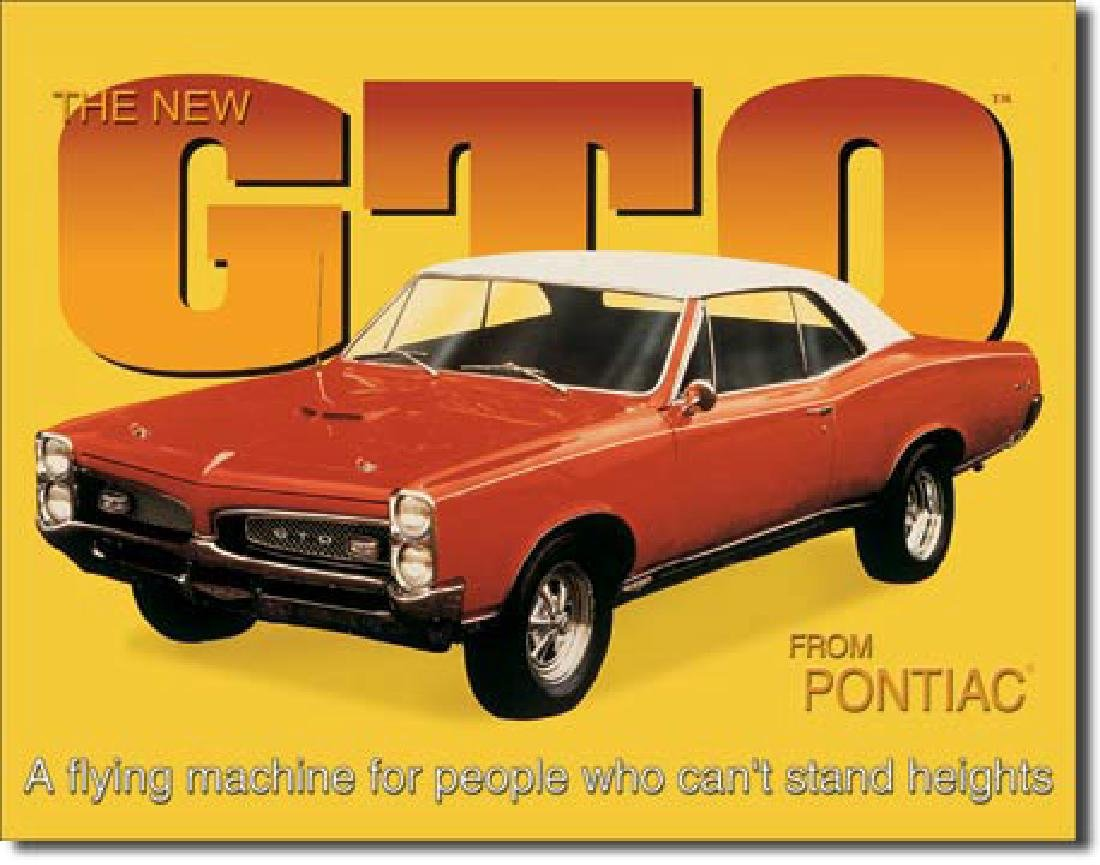 """GTO METAL SIGN 12.5"""" X 16"""""""