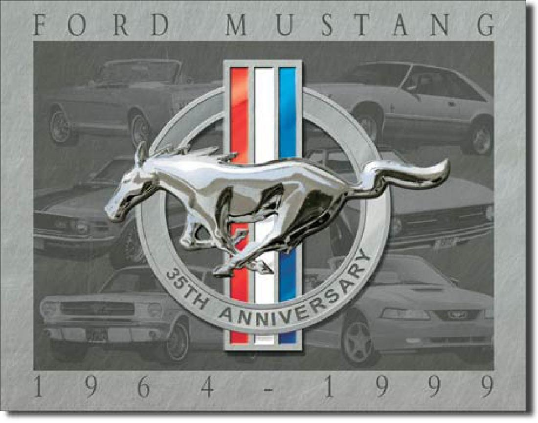 "FORD MUSTANG METAL SIGN 12.5"" X 16"""