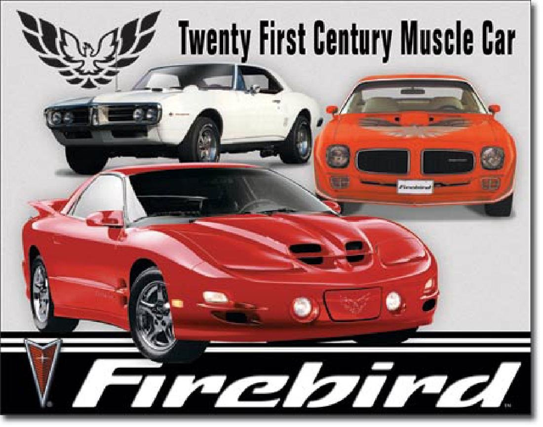 "FIREBIRD METAL SIGN 12.5"" X 16"""