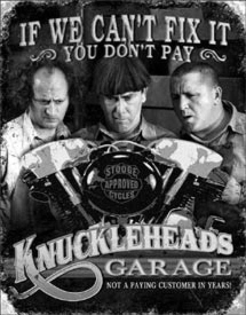 "THREE STOOGES METAL SIGN 12.5"" X 16"""