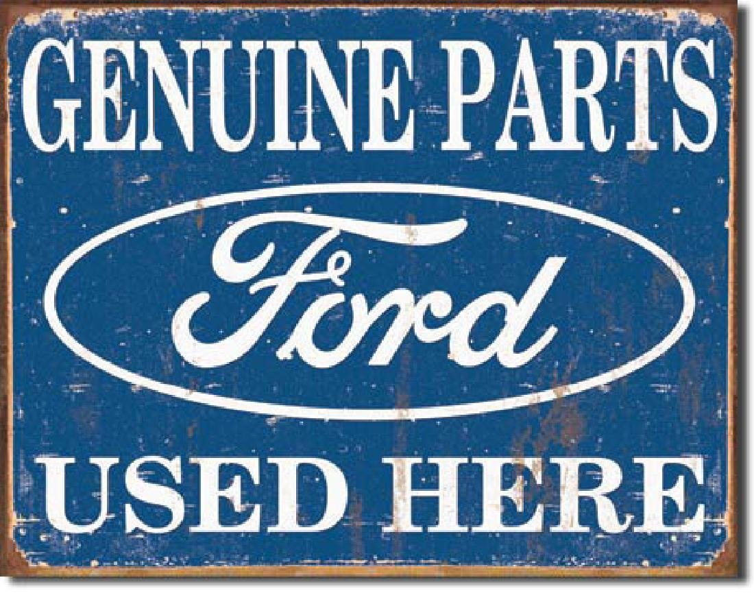 "FORD PARTS METAL SIGN 12.5"" X 16"""