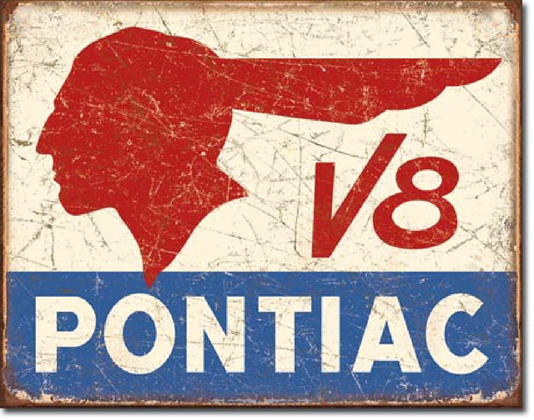 """PONTIAC METAL SIGN 12.5"""" X 16"""""""