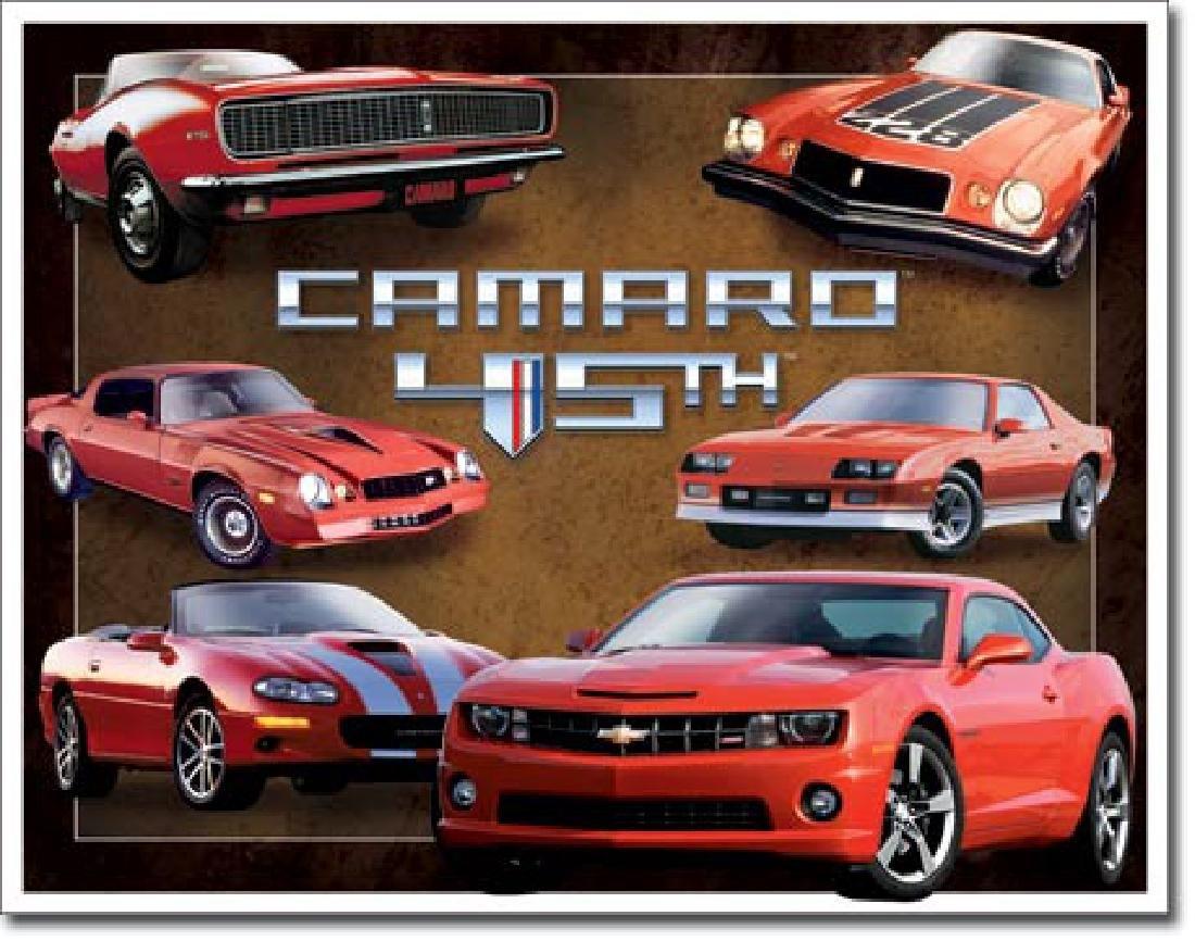 "CAMARO 45TH METAL SIGN 12.5"" X 16"""