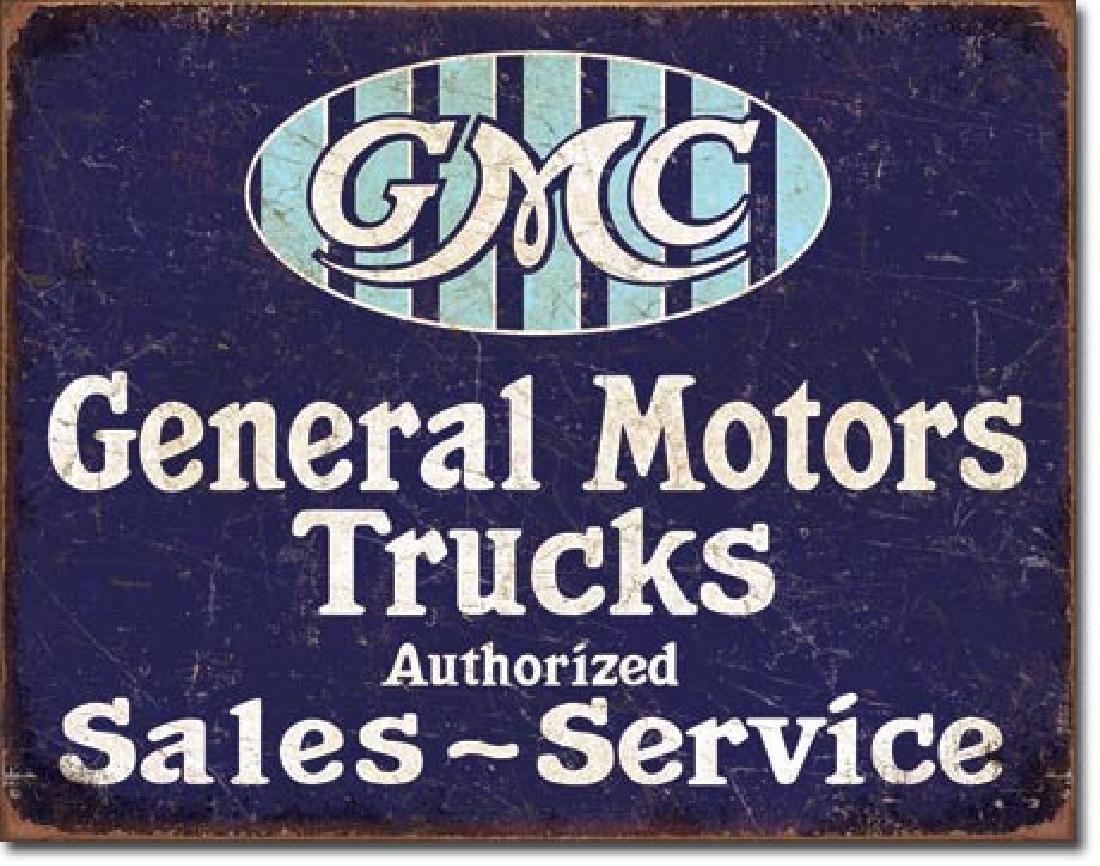 """GMC TRUCKS METAL SIGN 12.5"""" X 16"""""""