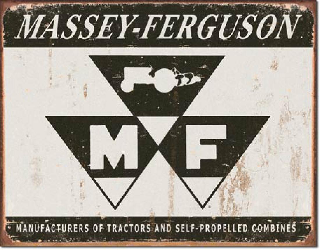 "MASSEY FERGUSON METAL SIGN 12.5"" X 16"""