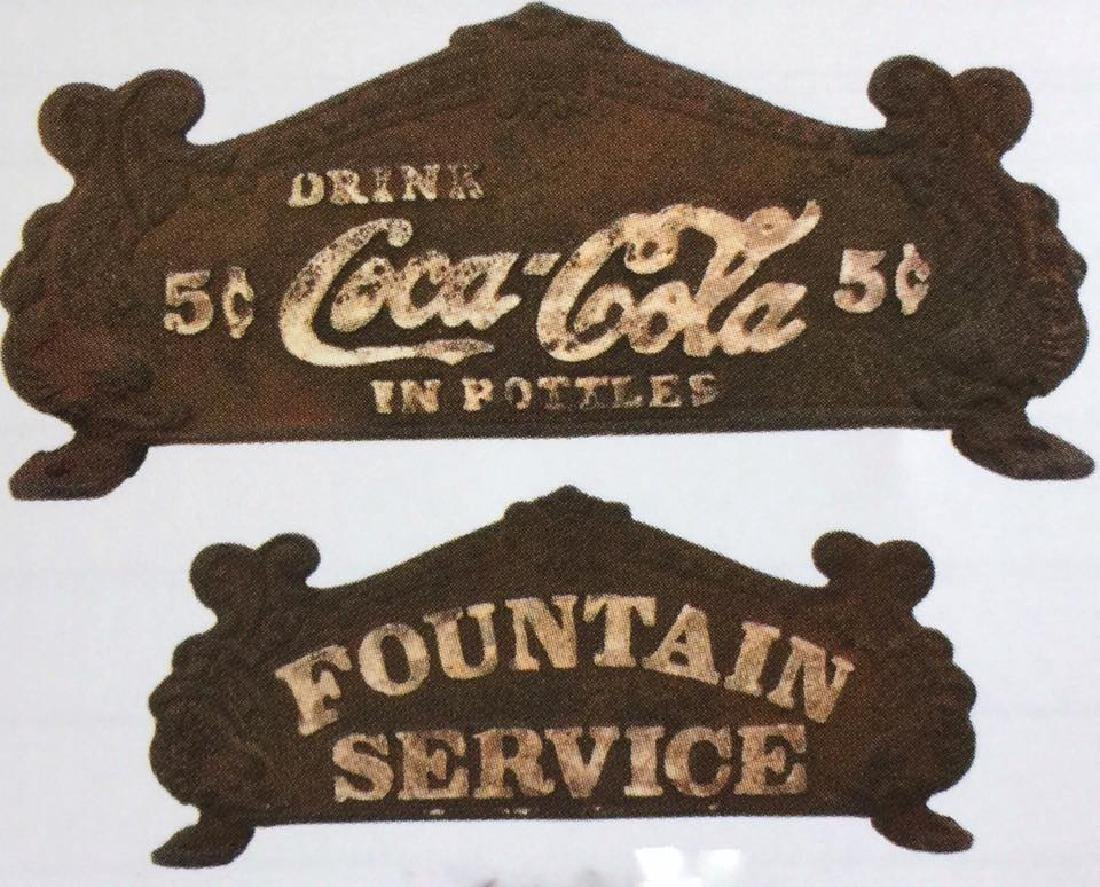 COCA COLA CAST IRON FOUNTAIN SERVICE 2 SIDED REGISTER