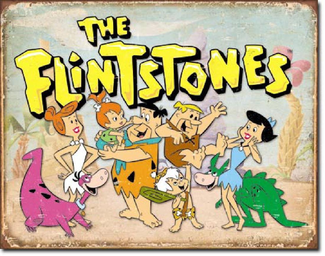 """FLINTSTONES METAL SIGN 12.5"""" X 16"""""""