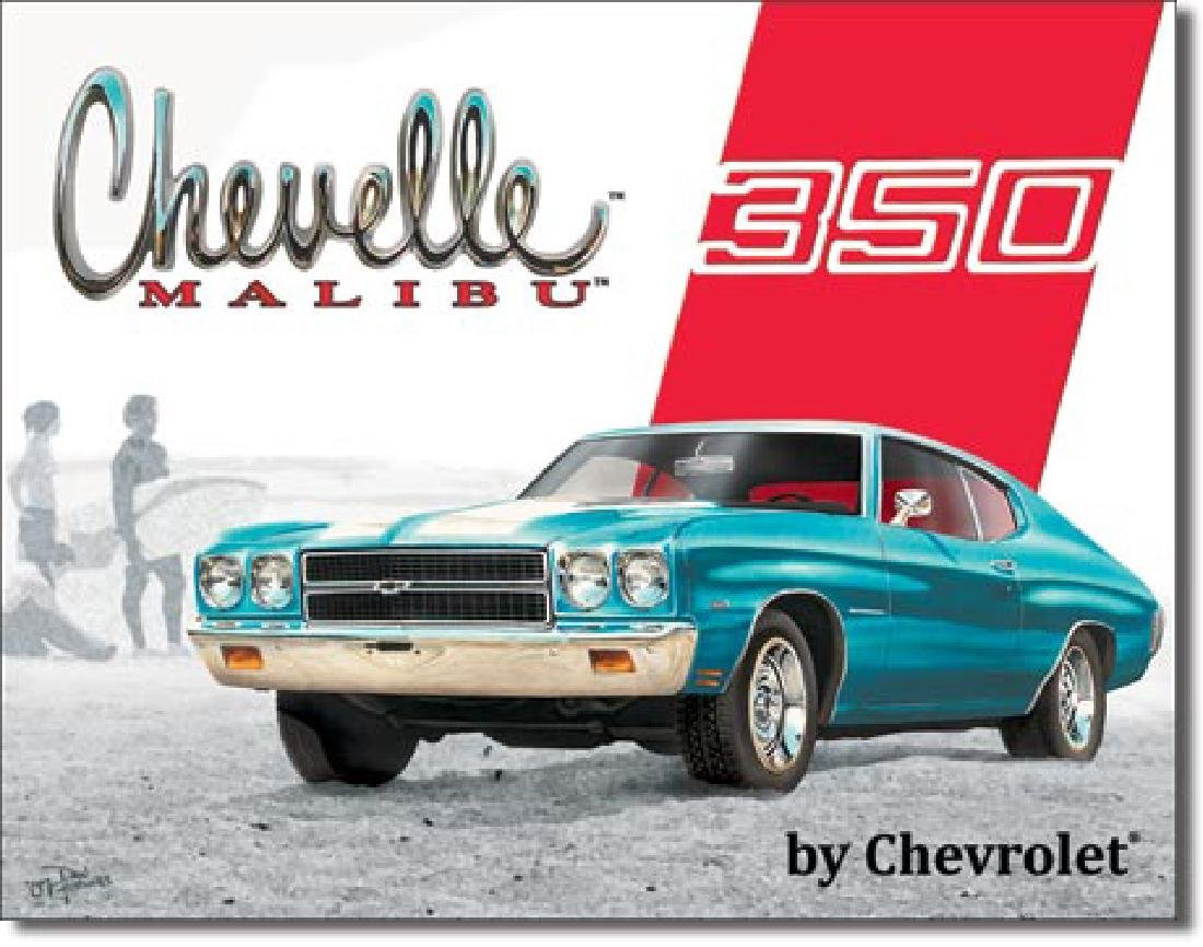 """CHEVELLE 350 METAL SIGN 12.5"""" X 16"""""""