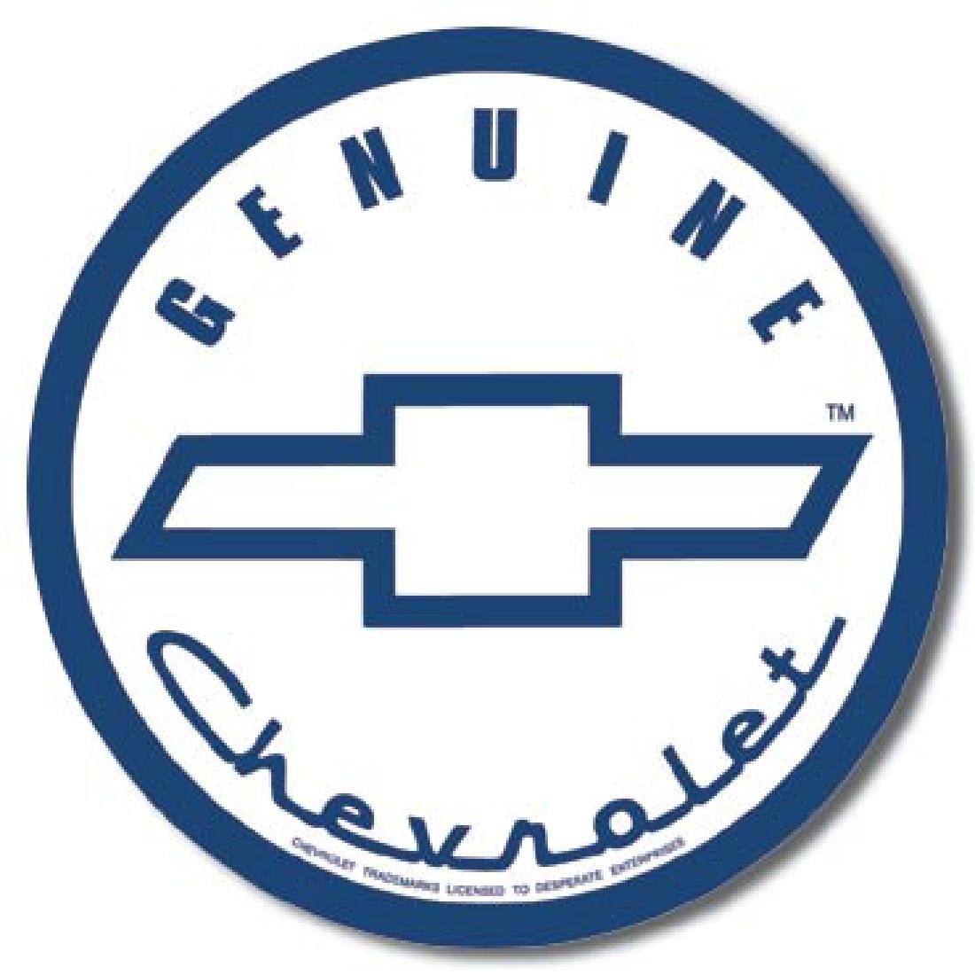 "CHEVROLET METAL SIGN 12"" ROUND"