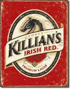 """KILLIANS METAL SIGN 12.5"""" X 16"""""""