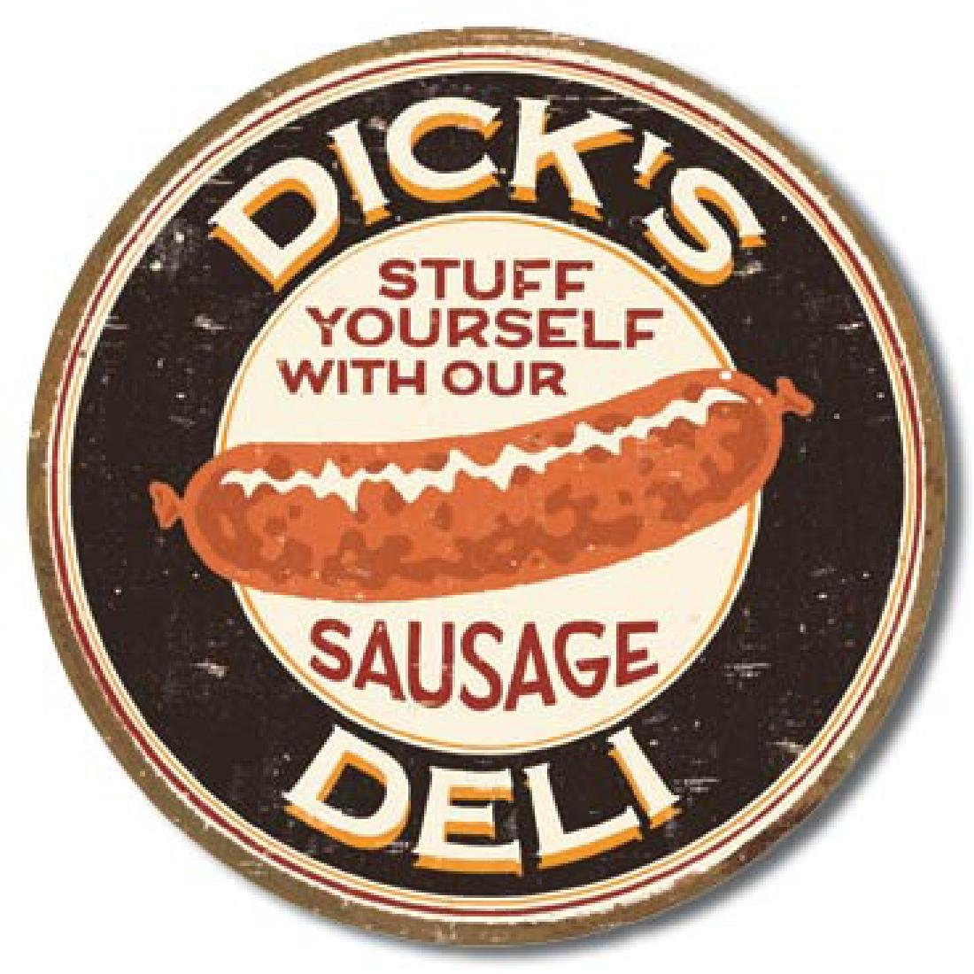 "DICKS DELI METAL SIGN 12.5"" X 16"""
