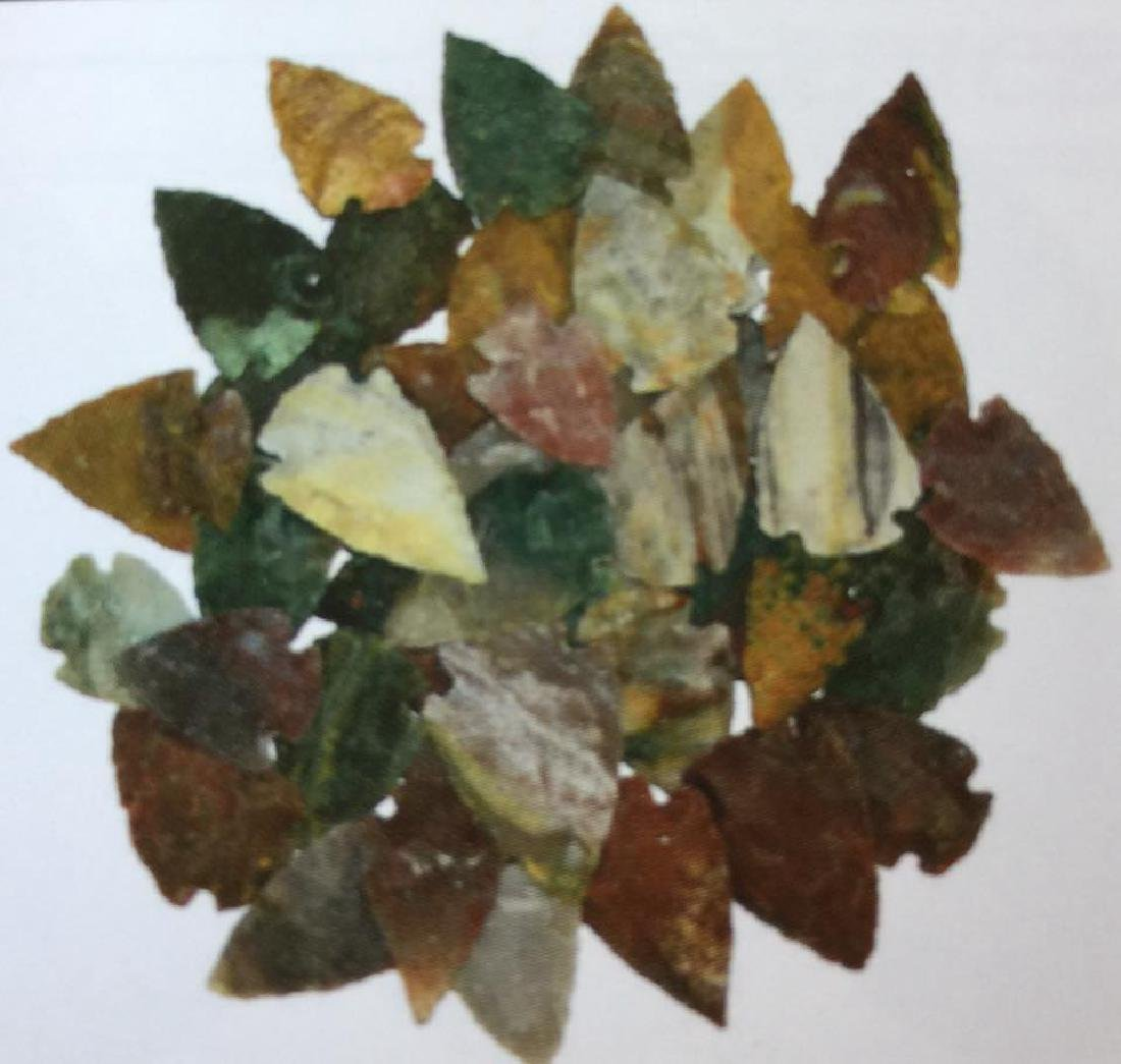 """HUGE LOT OF 100 AGATE ARROWHEADS - .5"""" TO 1.5"""""""