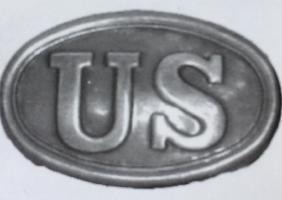 US UNION ARMY CIVIL WAR BRASS BELT BUCKLE