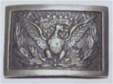 CIVIL WAR ARMY OFFICERS EAGLE BRASS BELT BUCKLE