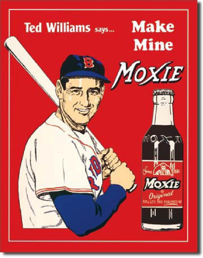 "TED WILLIAMS MOXIE METAL SIGN 12.5"" X 16"""