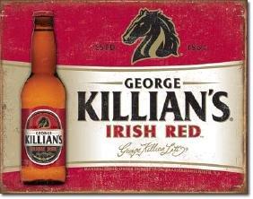"KILLIANS IRISH RED METAL SIGN 12.5"" X 16"""