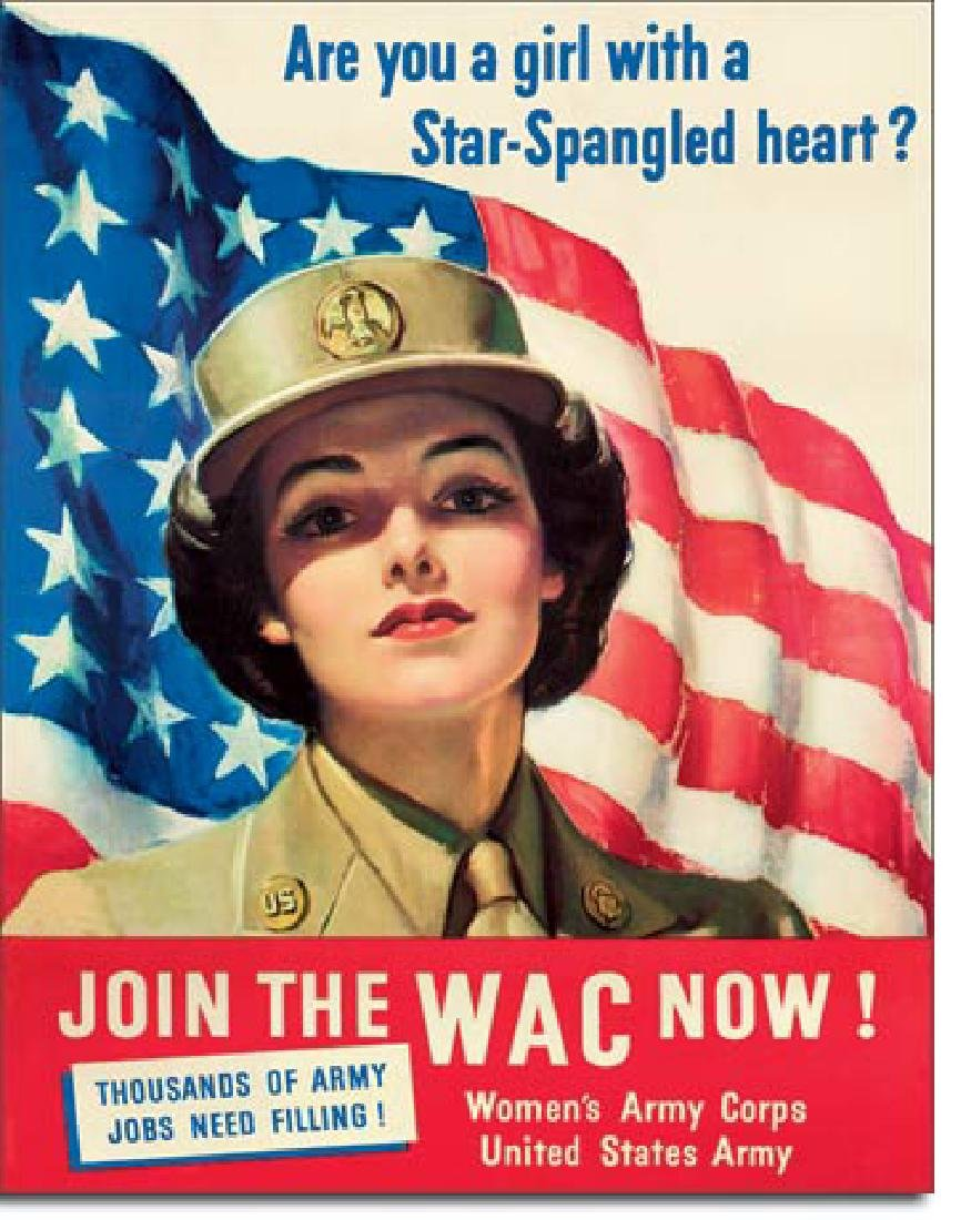 """JOIN THE WAC METAL SIGN 12.5"""" X 16"""""""