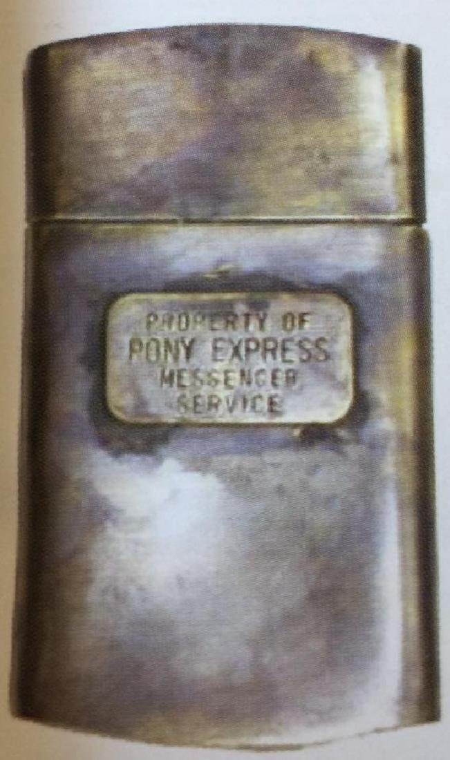 """PONY EXPRESS SOLID BRASS MAP CASE 2"""" X 4"""""""
