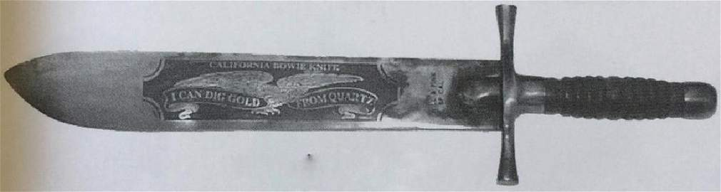 "CALIFORNIA MINING BOWIE KNIFE - 17.25"" LONG"