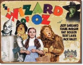 "WIZARD OF OZ METAL SIGN 12.5"" X 16"""