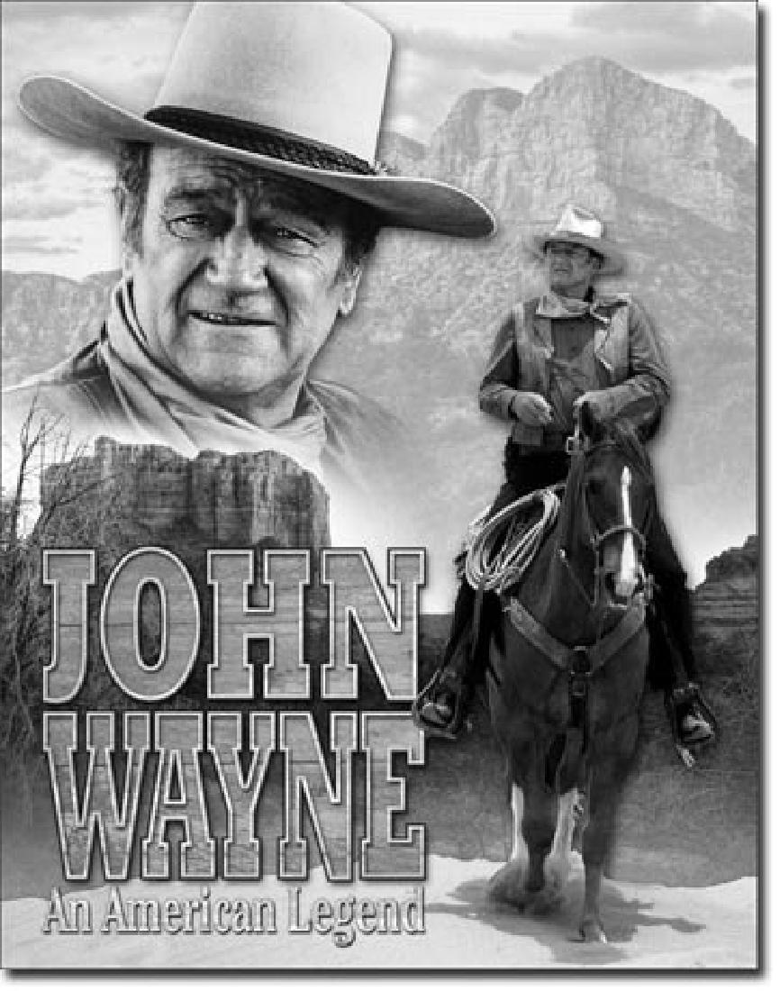 """JOHN WAYNE METAL SIGN 12.5"""" X 16"""""""