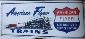 AMERICAN FLYER MODEL RAILROAD TRAINS PORCELAIN SIGN