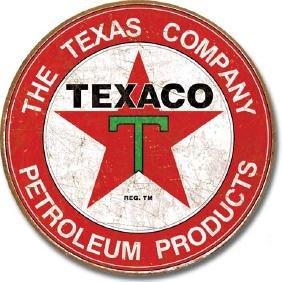 "TEXACO METAL SIGN 12"" ROUND"