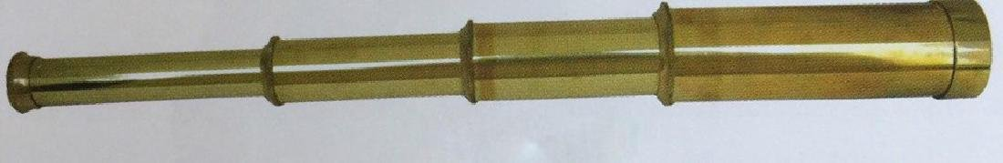 "SOLID BRASS POLISHED TELESCOPE - 17.5"" LONG"