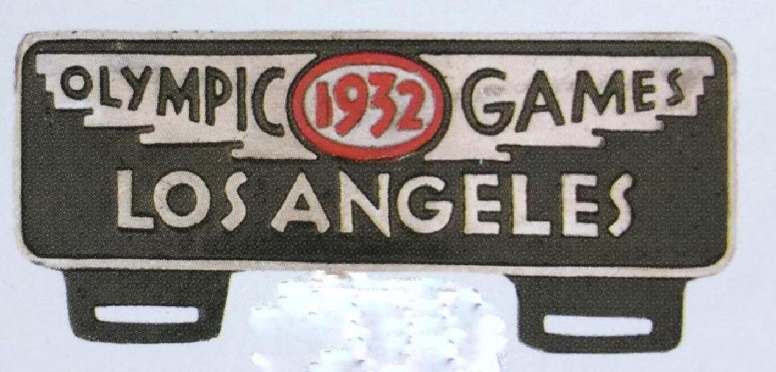 1932 LOS ANGELES OLYMPICS ALUMINUM CAR LICENSE PLATE