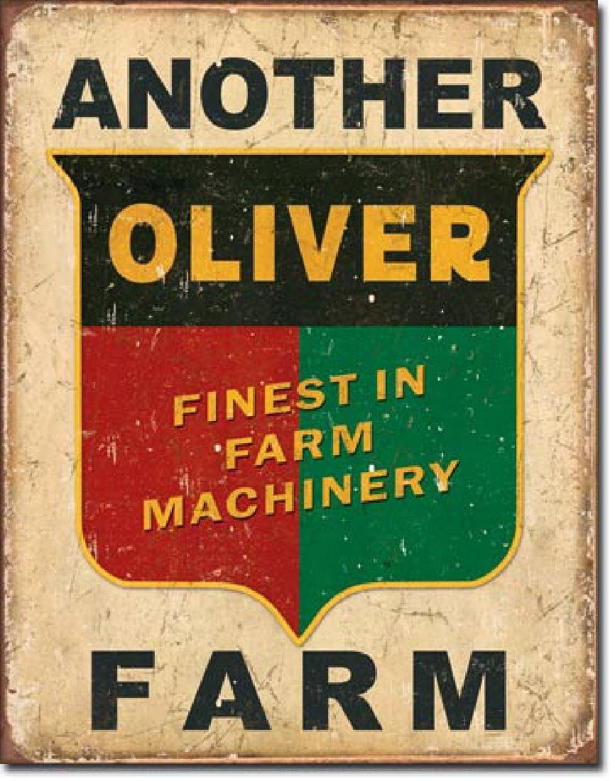"OLIVER FARM METAL SIGN 12.5"" X 16"""