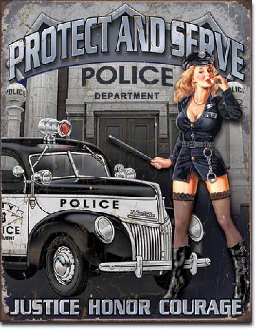 "POLICE METAL SIGN 12.5"" X 16"""
