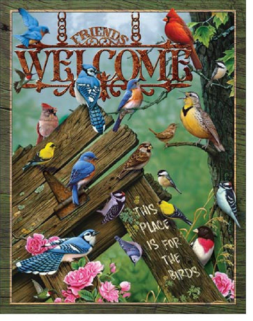 """WELCOME METAL SIGN 12.5"""" X 16"""""""