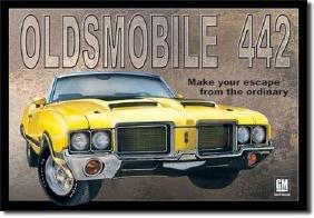 "OLDSMOBILE 442 METAL SIGN 12.5"" X 16"""