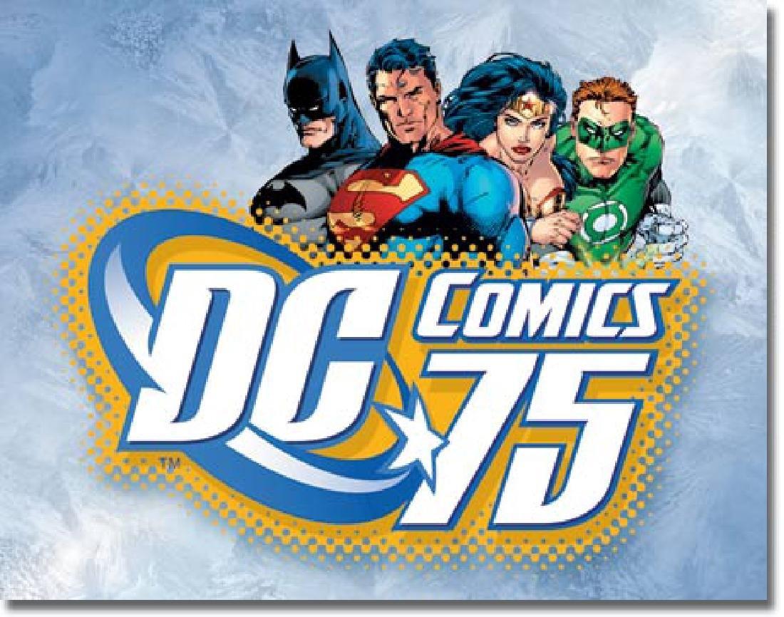 """DC COMICS 75 METAL SIGN 12.5"""" X 16"""""""