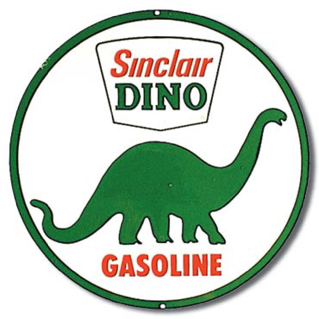 "SINCLAIR METAL SIGN 12"" ROUND"