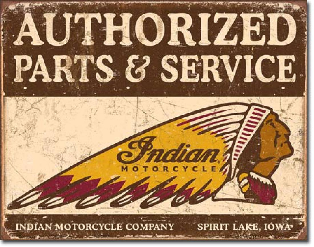 "INDIAN MOTORCYCLES METAL SIGN 12.5"" X 16"""