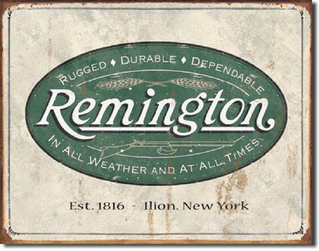 "REMINGTON METAL SIGN 12.5"" X 16"""