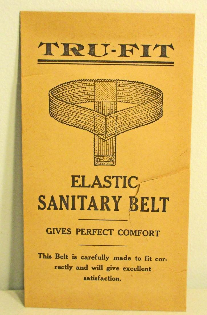VINTAGE TRU-FIT ELEASTIC SANITARY BELT ADVERTISING