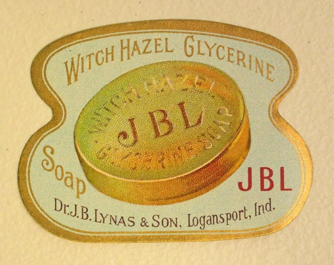 EARLY JB LYNAS WITCH HAZEL GLYCERINE SOAP ADVERTISING