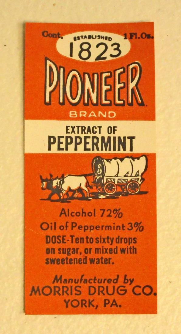 VINTAGE PIONEER EXTRACT OF PEPPERMINT ADVERTISING