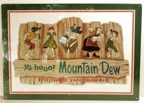 MOUNTAIN DEW METAL ADVERTISING SIGN
