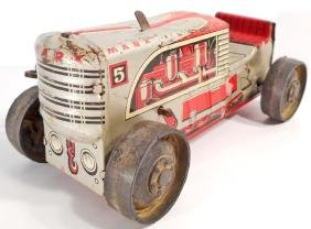VINTAGE MARX TIN LITHO KEY WIND UP TOY TRACTOR