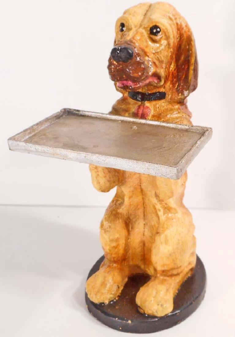 CAST IRON FIGURAL DOG STILL BANK