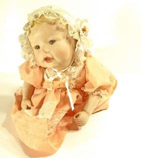 VINTAGE PORCELAIN BABY DOLL - PIANO BABY