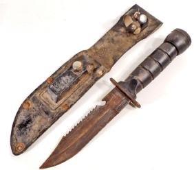 VINTAGE SURVIVAL KNIFE W/ SHEATH