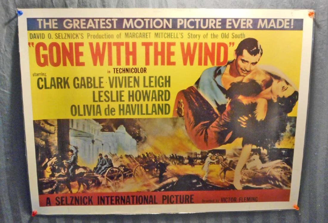 VINTAGE GONE WITH THE WIND MOVIE POSTER