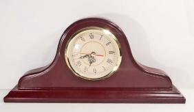 "VINTAGE BATTERY OPERATED MANTLE CLOCK - 16.5"" WIDE"
