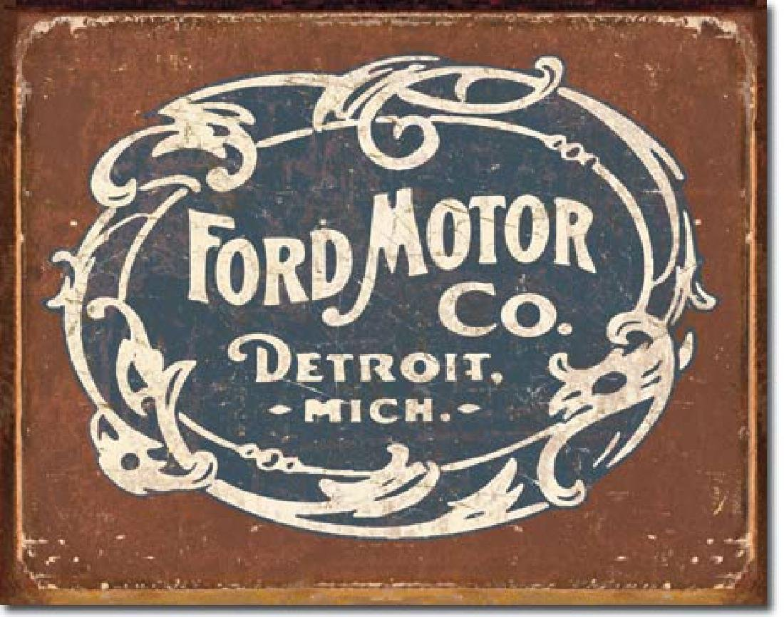 "FORD MOTOR CO METAL SIGN 12.5"" X 16"""