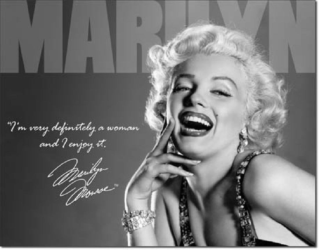 "MARILYN MONROE METAL SIGN 12.5"" X 16"""