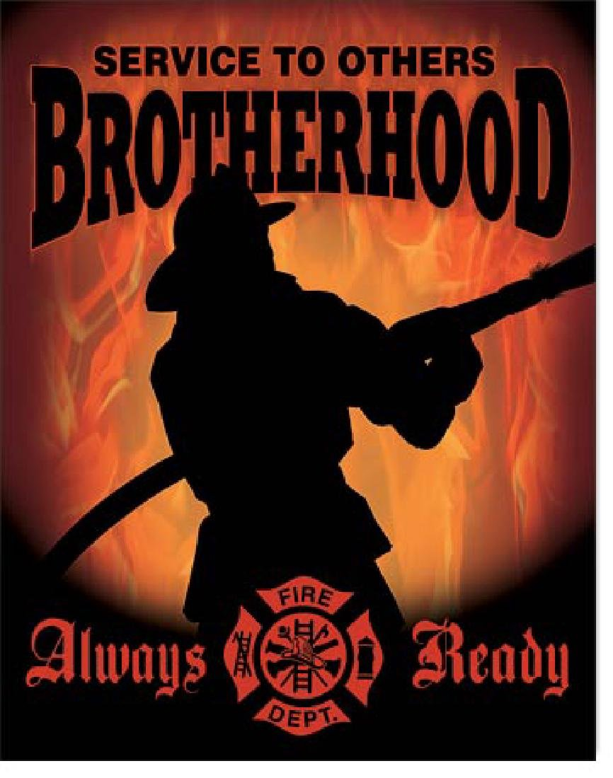 "BROTHERHOOD METAL SIGN 12.5"" X 16"""